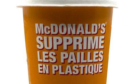 McDonald's lance un nouveau programme sans plastique en Europe