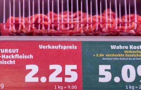 Une épicerie allemande montre aux consommateurs le prix environnemental caché des aliments