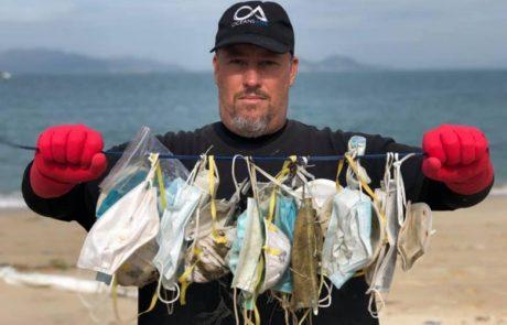 Les masques chirurgicaux utilisés pour se protéger du coronavirus encombrent les plages de Hong Kong