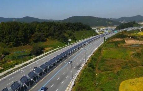 Corée du Sud : une piste cyclable recouverte de panneaux solaires au milieu d'une autoroute