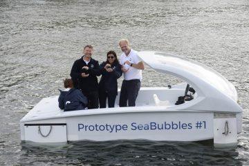 Le Sea Bubbles, taxi volant 100% électrique, bientôt de retour sur la Seine