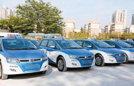 Après les bus électriques, Shenzhen a 100 % de sa flotte de taxis électriques