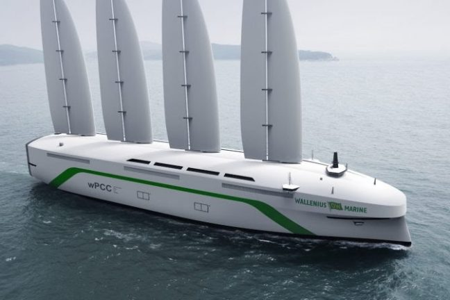 Un consortium suédois dévoile un gigantesque porte-voitures à énergie éolienne
